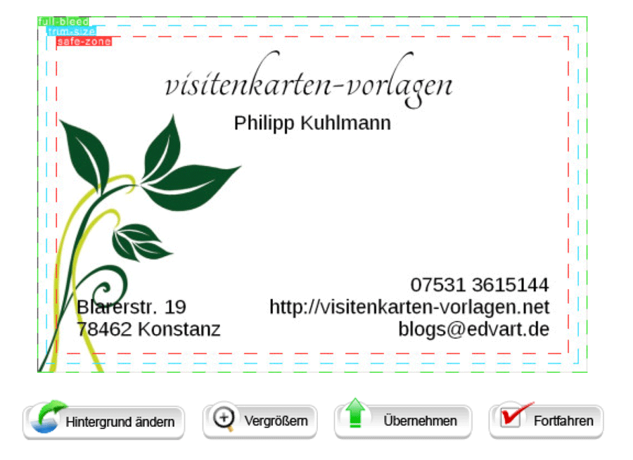 Eine visitenkarte online selbst erstellen visitenkarten vorlagen - Visitenkarten gratis vorlagen ...