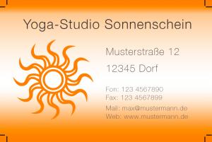 Visitenkarten-Vorlage für Yoga-Studio im Photoshop-Format