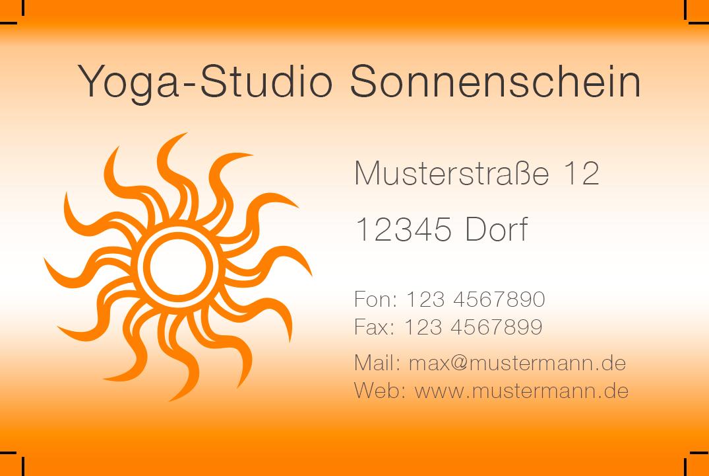 Photoshop Vorlage Für Yoga Studio Visitenkarten Vorlagen