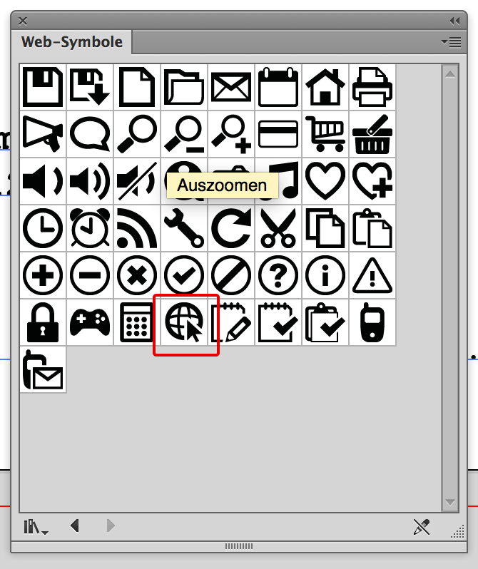 Illustrator Websymbole