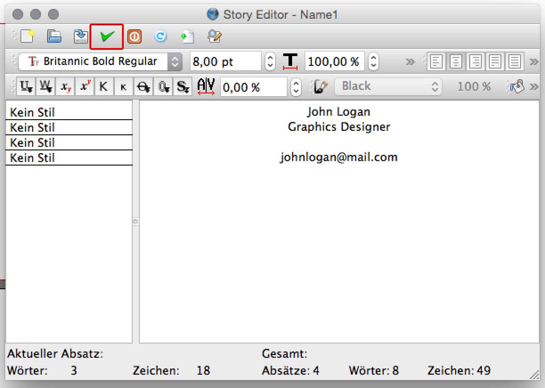 Über den Story-Editor Text schreiben und formatieren