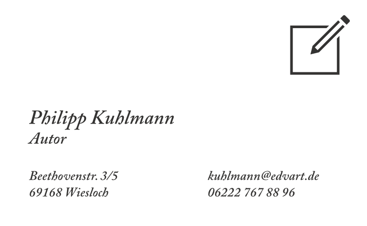 Visitenkartenvorlage Für Autoren Mit Affinity Designer
